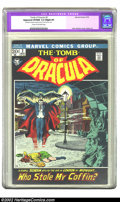 """Bronze Age (1970-1979):Horror, Tomb of Dracula #2 (Marvel, 1972) CGC Apparent VF/NM 9.0 Slight (P)Cream to off-white pages. CGC notes: """"Restoration includ..."""