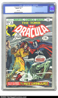 Bronze Age (1970-1979):Horror, Tomb of Dracula #8 (Marvel, 1973) CGC NM/MT 9.8 White pages. GeneColan cover and art. Overstreet 2002 NM 9.4 value = $35....