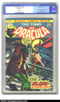 Bronze Age (1970-1979):Horror, Tomb of Dracula #10 (Marvel, 1973) CGC NM 9.4 Off-white pages.First appearance of Blade the Vampire Slayer. Gene Colan and ...