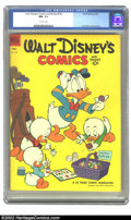 Golden Age (1938-1955):Cartoon Character, Walt Disney's Comics and Stories #152 (Dell, 1953) CGC NM- 9.2Off-white pages. Overstreet 2002 NM 9.4 value = $55....