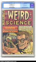 """Golden Age (1938-1955):Science Fiction, Weird Science 12 (#1) (EC, 1950) CGC VG/FN 5.0 Cream to off-whitepages. CGC notes: """"Small piece of tape on interior back co..."""