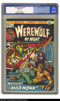 Bronze Age (1970-1979):Superhero, Werewolf by Night #3 (Marvel, 1973) CGC NM 9.6 Off-white to whitepages. This is a beautiful book with virtually no wear and...