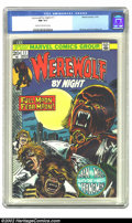 Bronze Age (1970-1979):Horror, Werewolf by Night #11 (Marvel, 1973) CGC NM 9.4 Cream to off-whitepages. Overstreet 2002 NM 9.4 value = $15....