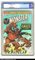 Bronze Age (1970-1979):Horror, Where Monsters Dwell #27 (Marvel, 1974) CGC NM 9.4 Off-white pages.Overstreet 2002 NM 9.4 value = $12....