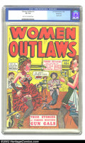 Golden Age (1938-1955):Western, Women Outlaws #1 Windy City pedigree (Fox, 1948) CGC VG 4.0 Light tan to off-white pages. Used in Seduction of the Innocen...