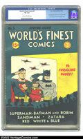 Golden Age (1938-1955):Superhero, World's Finest Comics #5 (DC, 1942) CGC FN 6.0 Cream to off-white pages. First appearance of TNT and Dan the Dyna-Mite. Over...