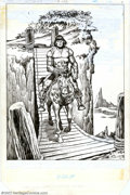Original Comic Art:Splash Pages, John Buscema and Ernie Chan - Original Art for Conan the Barbarian#153, page 1 (Marvel, 1983). Very cool image of Conan on ...