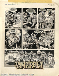 "Gonzalo Mayo - Original Art for Vampirella #69, Complete 12-Page Story, ""The Phantom of Hollywood"" (Warren, 19..."
