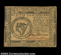 Colonial Notes:Continental Congress Issues, Continental Currency May 10, 1775 $8 Choice Extremely Fine....