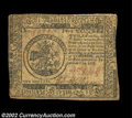 Colonial Notes:Continental Congress Issues, Continental Currency February 17, 1776 $5 Very Fine. The ...