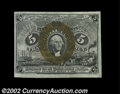 Fractional Currency:Second Issue, Fr. 1232 5¢ Second Issue Gem New. The bottom and right ...