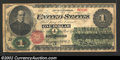 1862 $1 Legal Tender Note, Fr-16, VG-Fine. A note with dark green and red ink along with white paper. Grade lowered due...