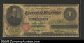 1862 $1 Legal Tender Note, Fr-16, VG. Well worn but fully intact, with one small edge tear near at the left end