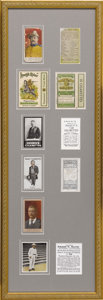 Political:Small Paper (1896-present), Theodore Roosevelt: Framed Collection of Period Cigarette Cards....