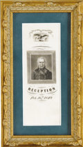 Political:Ribbons & Badges, Zachary Taylor: Very Rare 1849 Reception Silk Ribbon in Superb Condition....