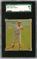 Baseball Cards:Singles (1930-1939), 1933 Goudey Dizzy Dean #223 SGC VG 40. VG Hall of Fame cardboardfrom the hobby-favorite 1933 Goudey baseball issue. The #...