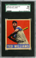 Baseball Cards:Singles (1940-1949), 1948-49 Leaf Ted Williams #76 SGC VG-EX 50. One of the hobby's mostalluring Ted Williams cards is his #76 entry from the 1...