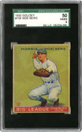 Baseball Cards:Singles (1930-1939), 1933 Goudey Moe Berg #158 SGC VG-EX 50. Beautifully-centeredcardboard from the attractive 1933 Goudey baseball issue featu...
