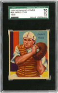 Baseball Cards:Singles (1930-1939), 1934 Diamond STARS JIMMIE FOXX #64 EX+ SGC 70. Shown here wearingthe gear of a backstop is the Hall of Fame great Jimmie F...