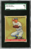 Baseball Cards:Singles (1930-1939), 1933 Goudey Moe Berg #158 SGC EX 60. Big leaguer-turned spy for theUS government Moe Berg is seen here in this high-qualit...