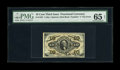 Fr. 1252 10c Third Issue PMG Gem Uncirculated 65 EPQ. Attractive and deep bronzing is noted on the front and back. The m...