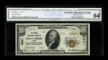 National Bank Notes:Maine, Bar Harbor, ME - $10 1929 Ty. 2 The First NB Ch. # 3941. All but one of the small size notes known on this one bank town...