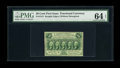 Fractional Currency:First Issue, Fr. 1313 50c First Issue PMG Choice Uncirculated 64 EPQ. The margins are bit tight at the top and lower right. This colorful...