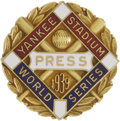"Baseball Collectibles:Others, 1939 World Series Press Pin (New York Yankees). We don't like tothrow around words like ""Mint"" very often, but we'd be doi..."