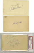Autographs:Post Cards, 1930's-50's Hall of Famers Signed Government Postcards Lot of 6.Collection of a half dozen GPC's skews heavily toward the ...