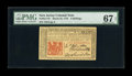 Colonial Notes:New Jersey, New Jersey March 25, 1776 6s PMG Superb Gem Unc 67 EPQ. Jumbo margins all the way around, deep original embossing, bold, dar...