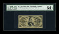 """Fractional Currency:Third Issue, Fr. 1298 25c Third Issue PMG Choice Uncirculated 64 EPQ. A beautiful example of this much more difficult """"a"""" on face fiber p..."""