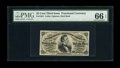 Fr. 1291 25c Third Issue PMG Gem Uncirculated 66 EPQ. This note is very similar to one that appeared in our FUN sale ear...
