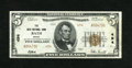National Bank Notes:Maine, Bath, ME - $5 1929 Ty. 2 The Bath NB Ch. # 494. A few corner tip folds and handling are the only flaws of this bright, w...