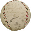 "Autographs:Baseballs, 1933 Honus Wagner Single Signed Baseball. ""You can have your Cobbs, your Lajoies, your Chases, your Bakers,"" once said Hall..."
