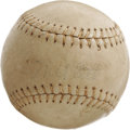Autographs:Baseballs, 1940's Mel Ott Signed Softball. The Hall of Fame Giant's tragicearly death in a New Orleans automobile accident has left a...