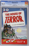 Golden Age (1938-1955):Horror, House of Terror #1 (St. John, 1953) CGC VF+ 8.5 Cream to off-whitepages....