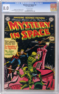 Golden Age (1938-1955):Science Fiction, Mystery in Space #3 (DC, 1951) CGC VF 8.0 Off-white pages....