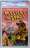 Golden Age (1938-1955):Science Fiction, Mystery in Space #6 (DC, 1952) CGC VF 8.0 Off-white pages....