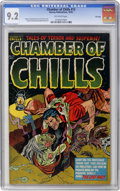 Golden Age (1938-1955):Horror, Chamber of Chills #13 File Copy (Harvey, 1952) CGC NM- 9.2Off-white pages....