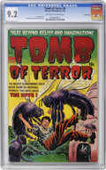 Golden Age (1938-1955):Horror, Tomb of Terror #8 Bethlehem pedigree (Harvey, 1953) CGC NM- 9.2Off-white to white pages....