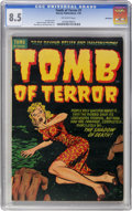 Golden Age (1938-1955):Horror, Tomb of Terror #7 Bethlehem pedigree (Harvey, 1953) CGC VF+ 8.5Off-white pages....