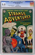 Golden Age (1938-1955):Science Fiction, Strange Adventures #14 (DC, 1951) CGC VF 8.0 White pages....