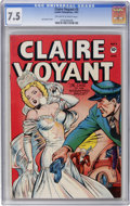Golden Age (1938-1955):Crime, Claire Voyant #3 (Pentagon, 1947) CGC VF- 7.5 Off-white to white pages....