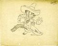 "Animation Art:Production Drawing, ""Peg Leg Pete"" Model Sheet Production Drawing Original Art (WaltDisney, 1930)...."