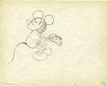 "Animation Art:Production Drawing, Mickey Mouse ""The Cactus Kid"" Animation Production Drawing Original Art (Walt Disney, 1930)...."