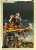 "Original Comic Art:Covers, George Wilson - Classics Illustrated #155 (Second Printing) ""Lion of the North"" Cover Painting Original Art (Gilberton, 1964)...."