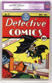 Detective Comics #27 (DC, 1939) CGC FN/VF 7.0 Moderate (P) Off-white to white pages