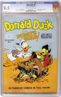 Golden Age (1938-1955):Cartoon Character, Four Color #9 Donald Duck (Dell, 1942) CGC VF+ 8.5 Cream tooff-white pages....