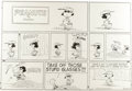 Original Comic Art:Comic Strip Art, Charles Schulz - Peanuts Sunday Comic Strip Original Art, dated 6-13-65 (United Features Syndicate, 1965). ...