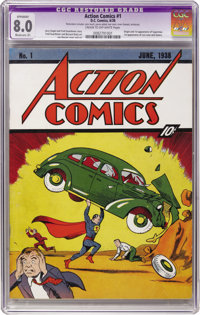 Action Comics #1 (DC, 1938) CGC Apparent VF 8.0 Moderate (P) Cream to off-white pages